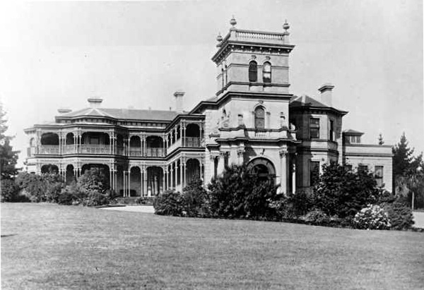 View of west elevation ca 1890