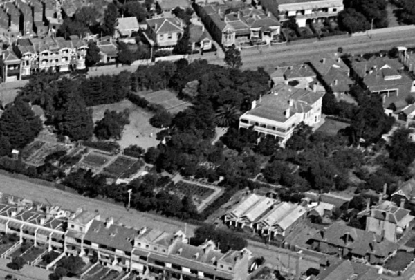 Aerial view in ca. 1925