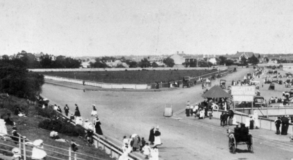 View looking south & on RHS the newly formed Marine Parade ca.1890